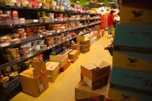 Supermarkt - Viel zu tun!